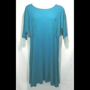 NEW Eileen Fisher Jewel Scoop Neck Swing Dress 1X